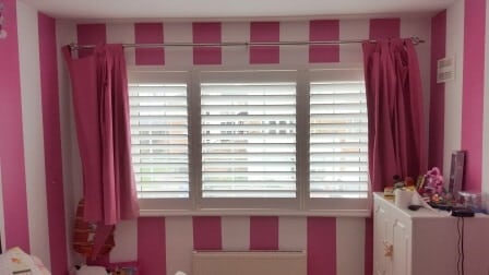 Shutters fitted in girls bedroom Meath