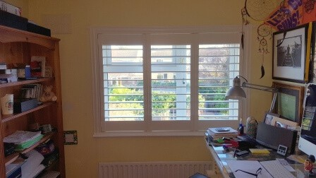 Shutters fitted in this home office in Clondalkin