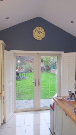 Shutters fitted onto French Doors in Knocklyon