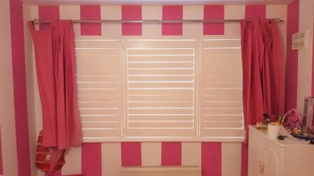 Shutters in this princesses bedroom