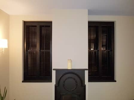 Black and White Shutters fitted in Avoca, Wicklow