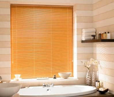 Pecan Bathroom Venetian Blind