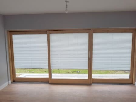 Pleated Window Blinds in Greystones