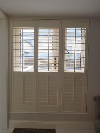 French Door Plantation Shutters Signature Blinds And Shutters