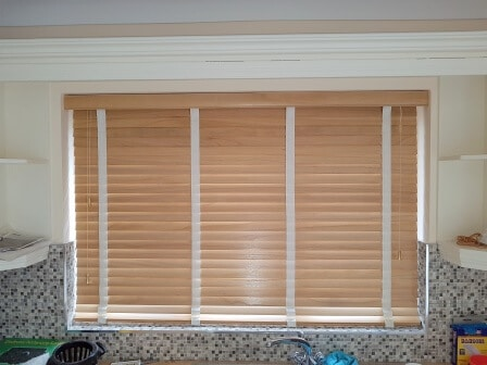 Wood Blinds fitted in Newbridge