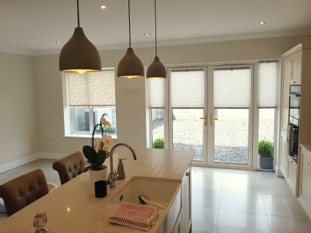 French Door Pleated Blinds Ashbourne