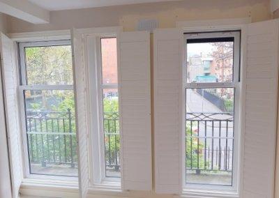 opened out shutters Maccer St Dublin