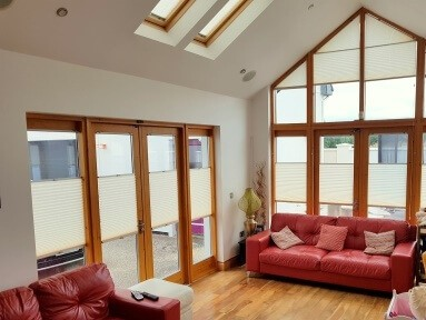 Multi-function pleated blinds in Offaly