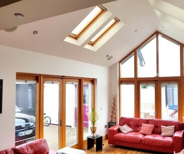 Open pleated blinds in Offaly