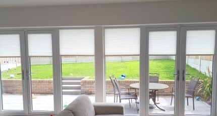 Partially closed Pleated Blinds Malahide