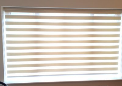 Closed bedroom roller blinds