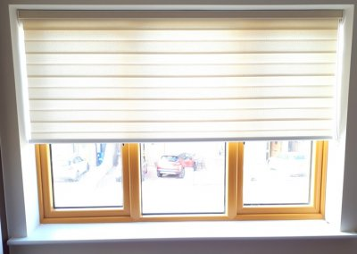 Partly opened roller blinds