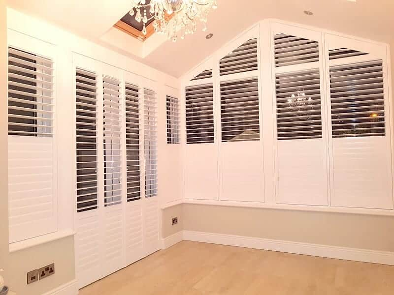 Shaped Plantation Shutters fitted in Celbridge