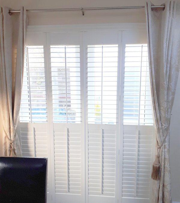 Plantation shutters on patio doors, West Dublin