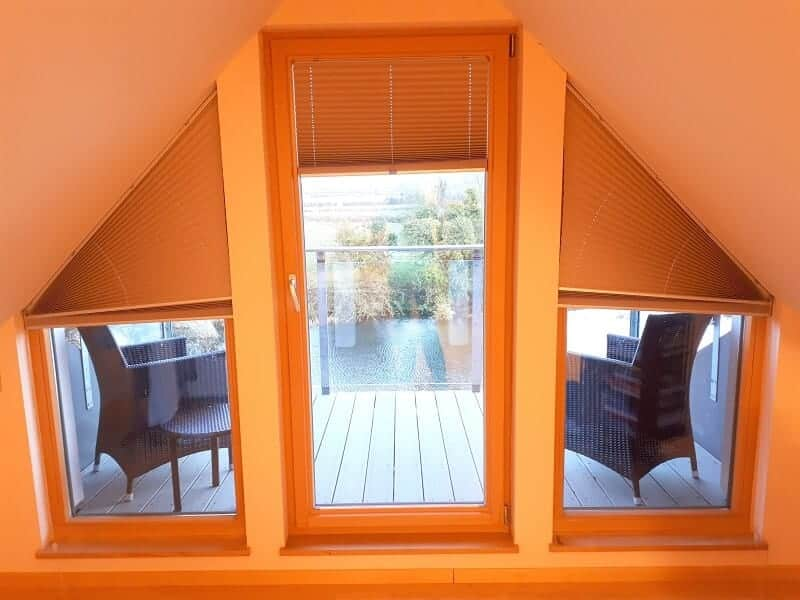Shaped Pleated blinds fitted in Co.Meath