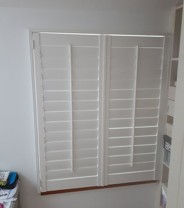 White Plantation Shutters installed in Bray Country Wicklow