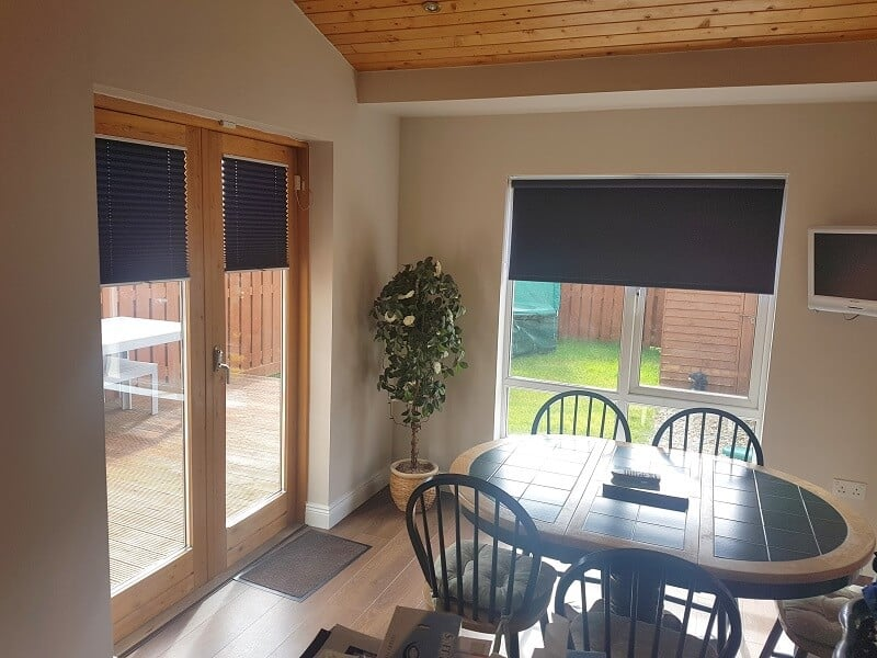 Pleated Blinds and a Roller Blind fitted in Clonsilla, Dublin 15