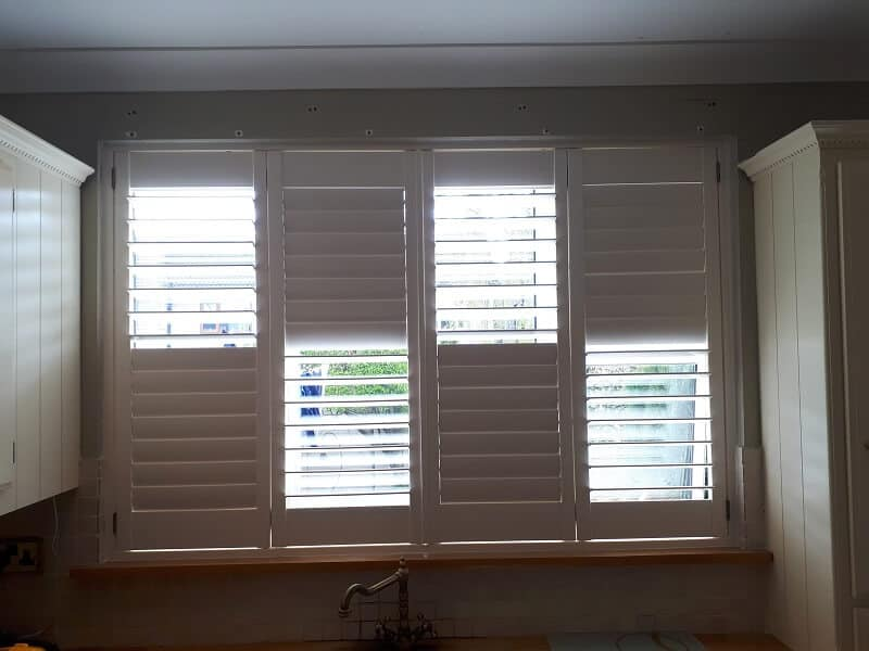 White Plantation Shutters installed in Belgard, Dublin 24