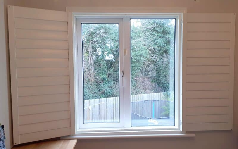 White Plantation Shutters fitted in Leixlip, County Kildare
