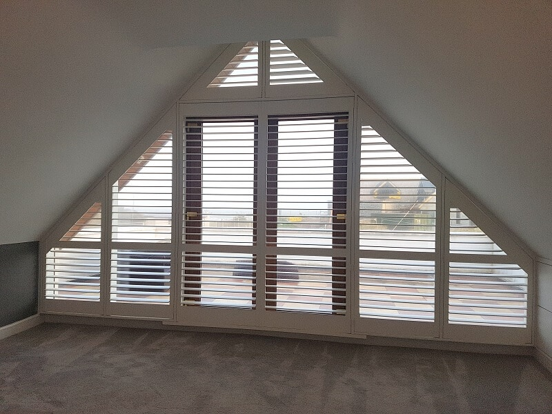 Triangular Shaped Shutters fitted in Rush, Dublin 12