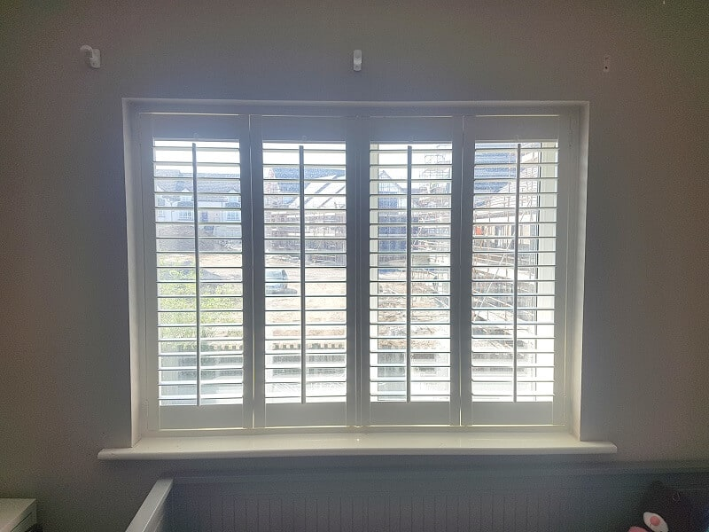 White Plantation Shutters fitted in Swords, Dublin 17.
