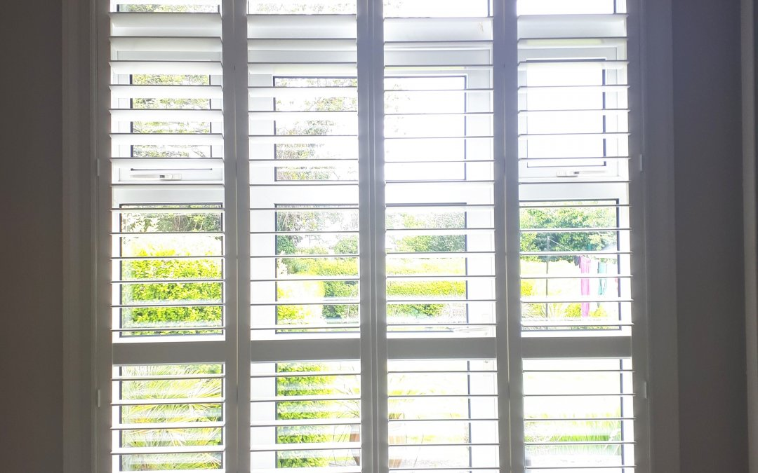 Plantation Shutters fitted onto Patio Door in Ballyroan, Dublin 16