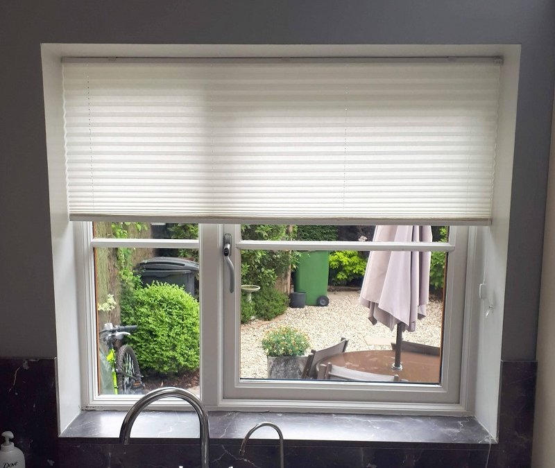 Pleated blinds installed in Steeplechase Hill, Ratoath, County Meath