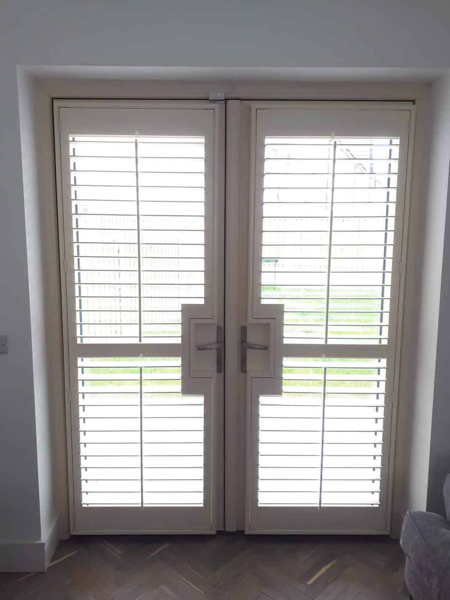 Plantation Shutters Fitted On A Patio Door In Lucan County Dublin