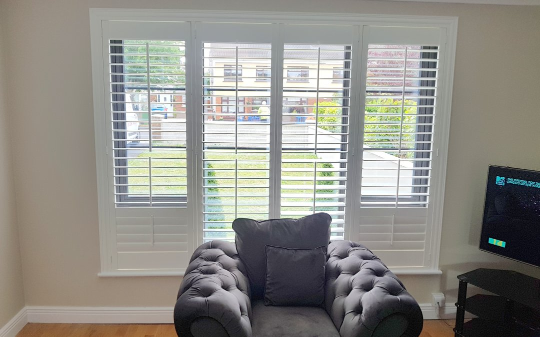 Plantation shutters our fitter installed in Ashbourne, Co Meath