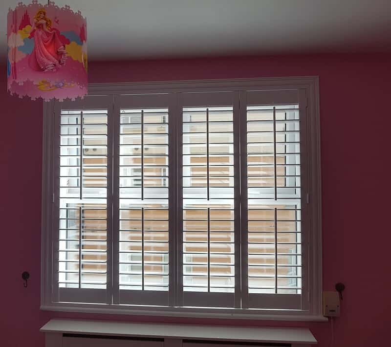 Shutters Fitted On Different Windows And Patio Doors In