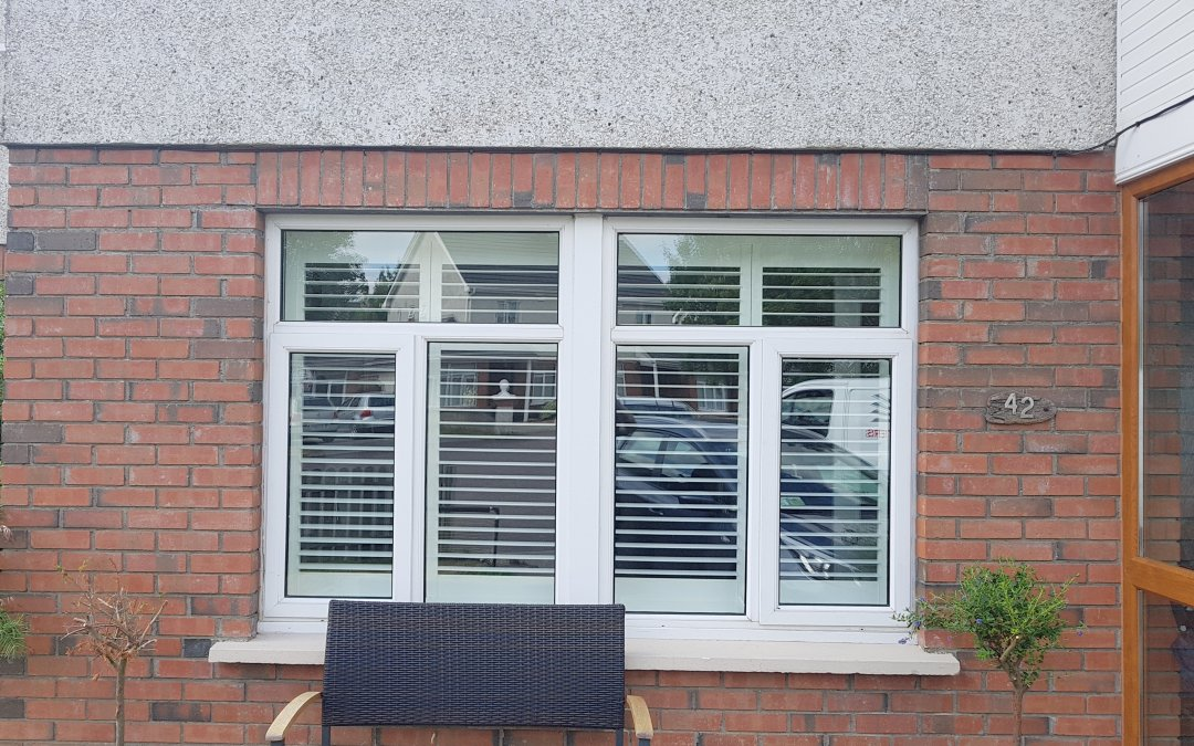 Plantation shutter fitted in Enfield, County Kildare.