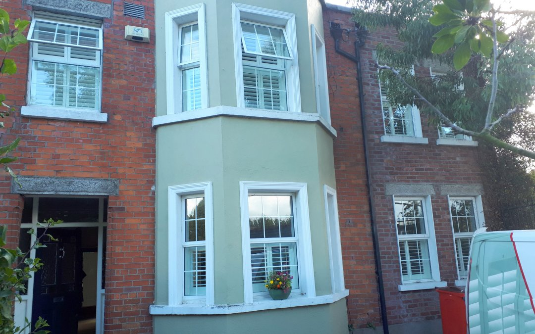 Tier on tier shutters and café style shutters installed in Drumcondra, Dublin 7.