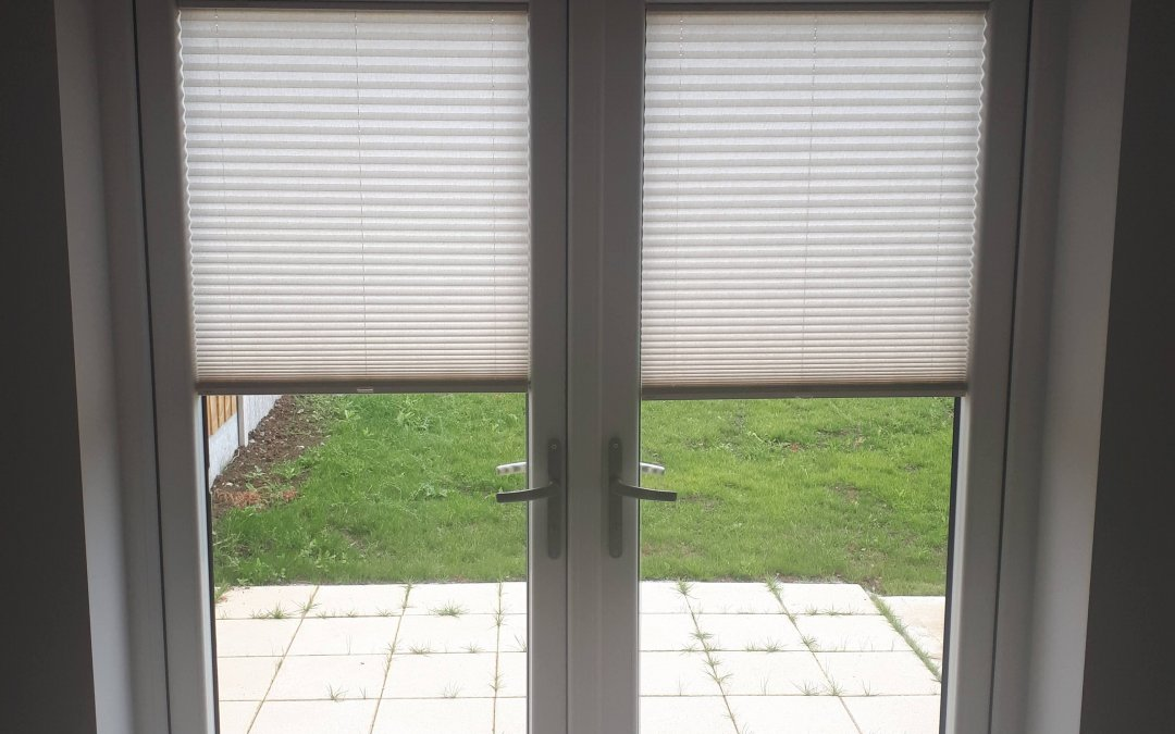 Roller blinds and pleated blinds installed in Ongar ,Dublin 15.