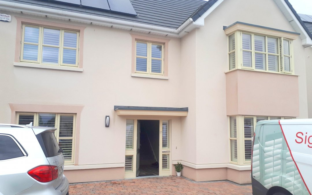 Plantation Shutters installed throughout the house in Naas, Kildare.