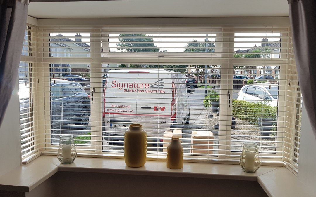 Wooden Venetian Blinds we installed in Donaghmede, County Dublin