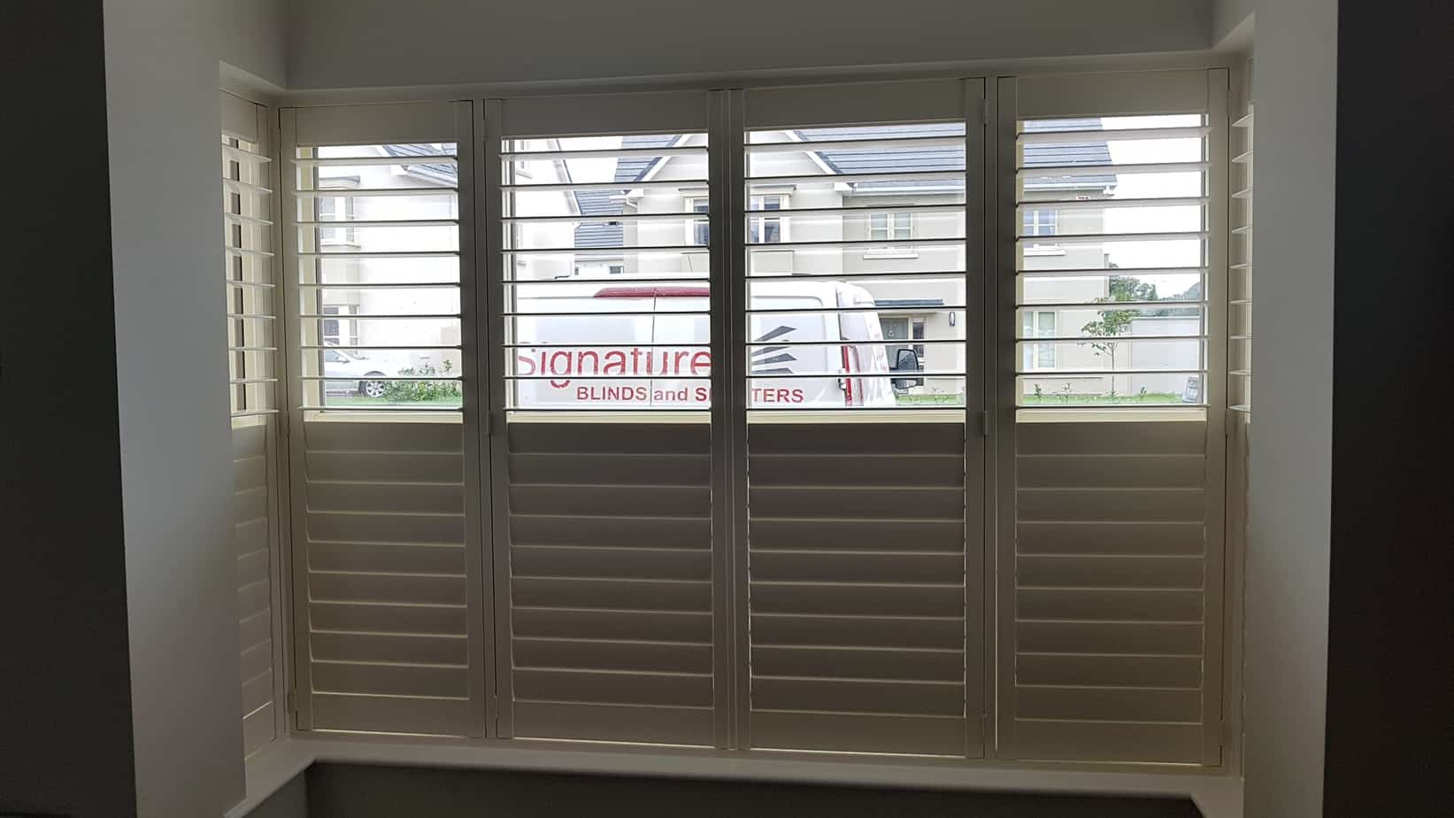 Plantation Shutters Fitted Onto A Bay Window In County Kildare