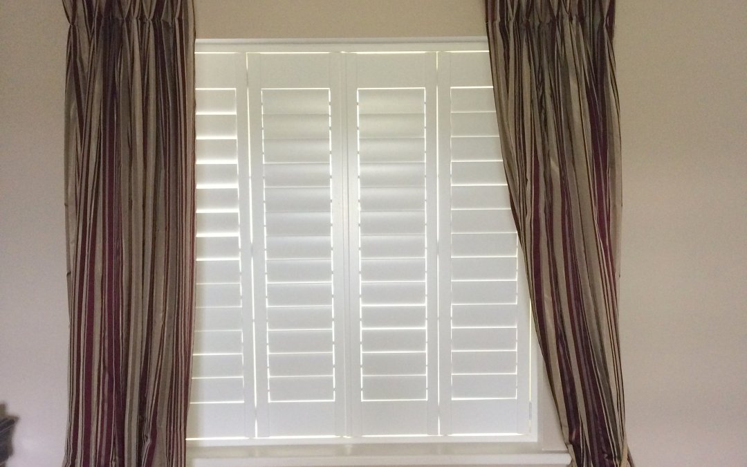 White Plantation Shutters we installed in Curragha, County Meath.