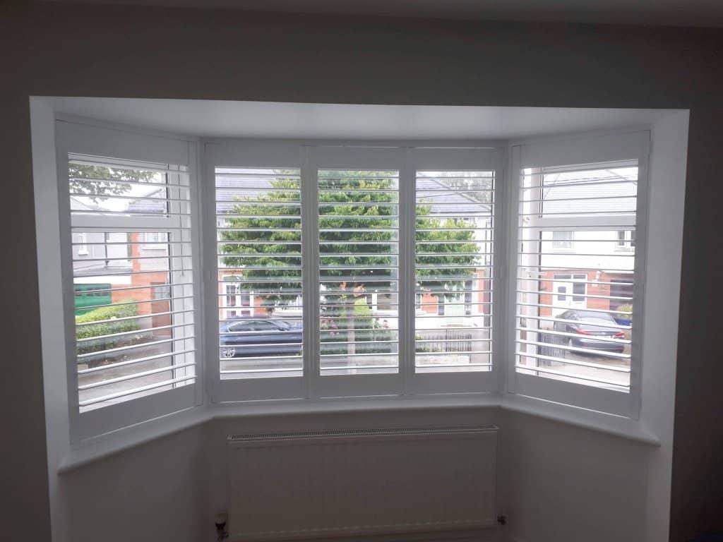 Bay Window Plantation Shutters Installed In Whitehall