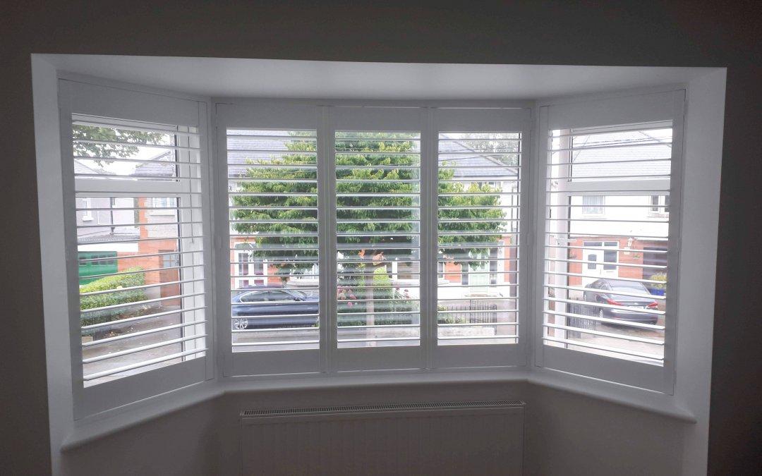 Bay window Plantation Shutters installed in Whitehall.