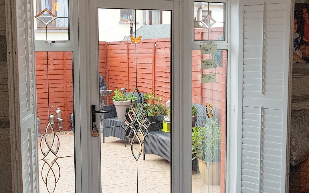 Plantation Shutters fitted on back doors in Blackhorse Avenue, Dublin 7