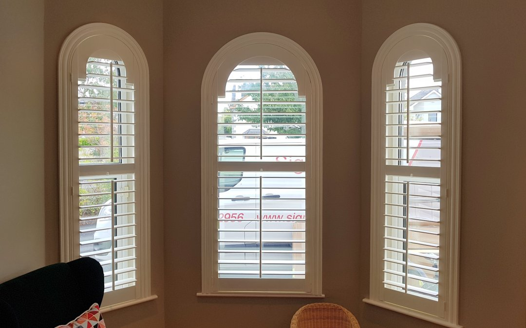 Arched Shutters installed in Mucklagh, County Offaly.