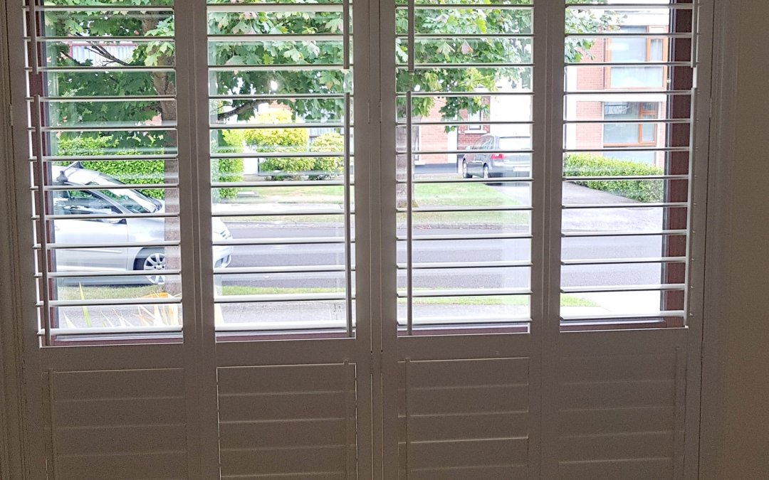 Plantation Shutters fitted in Stillorgan, County Dublin.