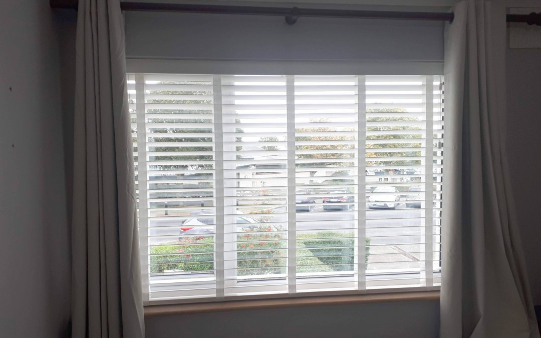Wooden Venetian Blinds with Tapes installed in Swords, Dublin