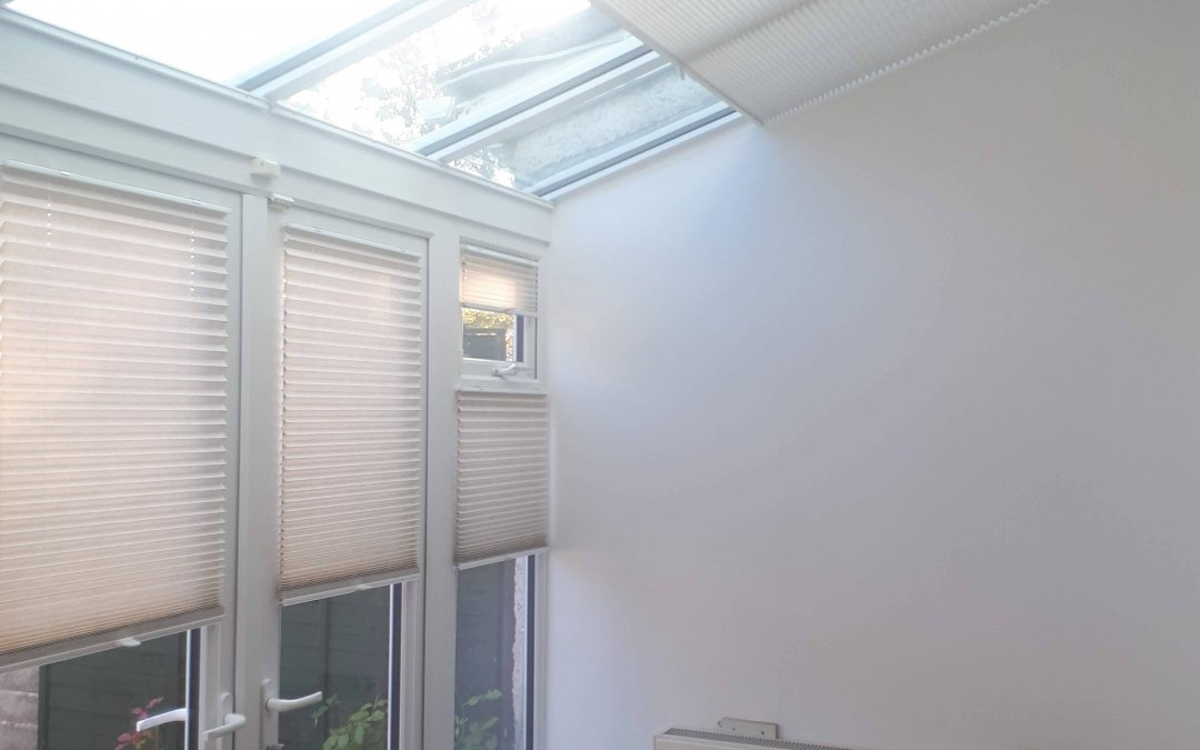 Pleated Blinds and Pleated Roof Blinds installed in Castleknock, Dublin 15.