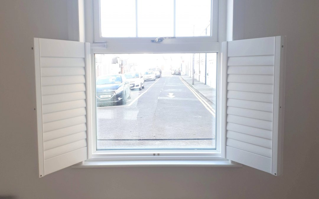 Cafe style Shutter installed in Dun Laoighre, Dublin.