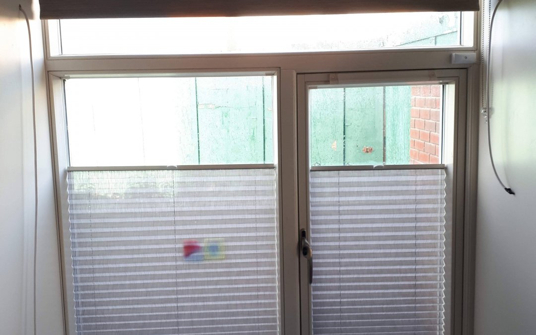 Pleated and Roller blinds installed in Castleknock, Dublin 15