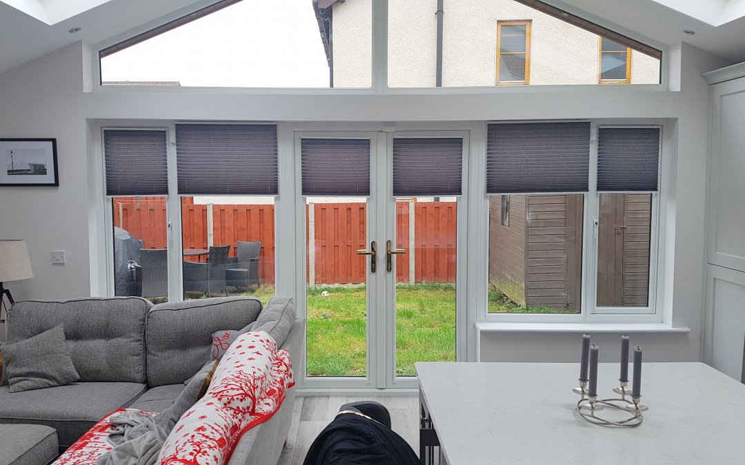 Pleated blinds installed in Ratoath, County Meath