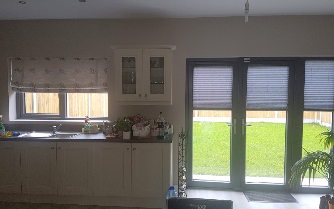 Varisheer and Pleated Blinds fitted in Ratoath, Co Meath.