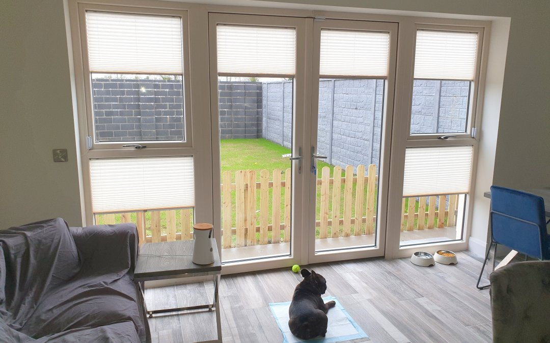 Pleated Blinds installed in The Willows, Dunshaughlin, Meath.