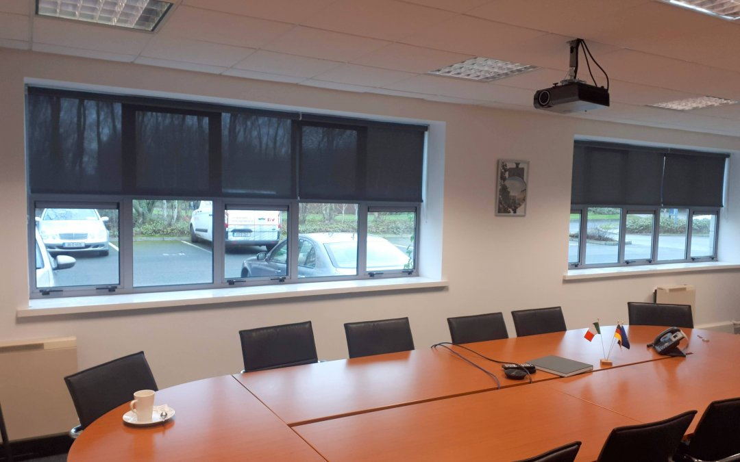 Screen rollers installed in Commercial Offices in Citywest, Dublin.